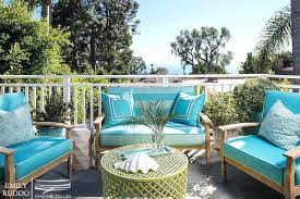 awesome navy blue patio furniture and wicker outdoor sofas and chairs with navy trellis pillows view