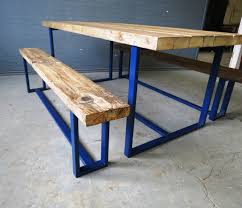 wood metal dining table. 🔎zoom Wood Metal Dining Table O