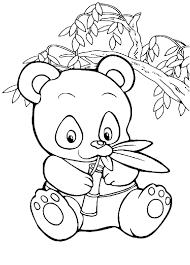 Tranh cho bé tô màu con gấu trúc