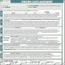 Virginia Rental Lease