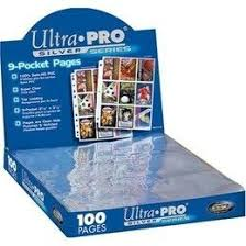 Page Binder Ultra Pro 9 Pocket 100ct Silver Series Binder Pages Up81442