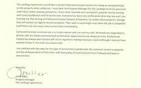 Memphis Carpet Cleaning Apartment Letter Of Recommendation