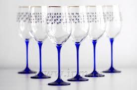 Набор из 6 <b>бокалов для вина</b> Кобальтовая сетка, 390 мл, стекло ...