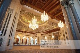 chandeliers and dome sultan qaboos grand mosque mu oman