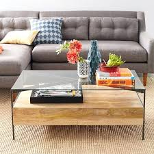 west elm coffee table glass topped industrial storage coffee table west elm west elm storage coffee