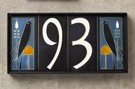 Decorative House Number Tiles Ceramic House Numbers Taleghanus 2