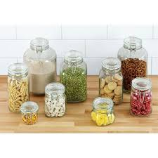 glass food containers with lids storage locking