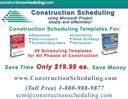 Microsoft Project Construction Scheduling Template Constructionscheduling Com