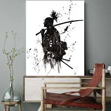 Office wall art Amazing 2019 Black And White Japan Portrait Wall Art Canvas Prints Painting For Office Room Wall Decor Japanese Samurai Asian Warriors Poster From Tinaya Dhgate 2019 Black And White Japan Portrait Wall Art Canvas Prints Painting