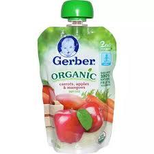 Gerber <b>Organic Baby Food</b> Carrots