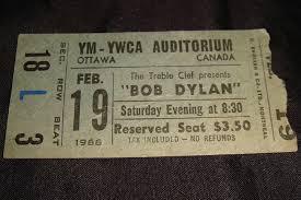 Bob Dylan 1966 Concert Ticket Stub Sells For 324 Times Its Original