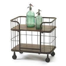 Rectangular Kitchen Shop Go Home Vintage Farmhouse Rust Paint Rectangular Kitchen Cart