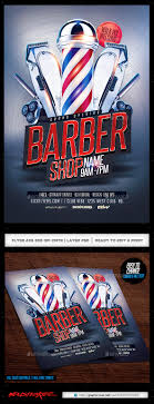 barber flyer barbershop flyer by industrykidz graphicriver