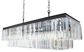 40 rectangular crystal fringe chandelier