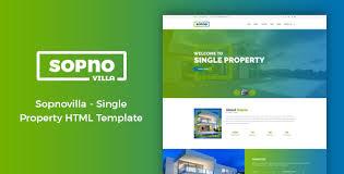 Sopnovilla Single Property Html Template By Salmonthemes Themeforest