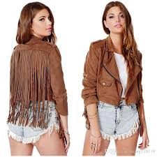 extra short leather suede fringe jacket women 2016 new fashion fall jackets chaquetones mujer chaqueta flecos vestes pour femmes women jackets coat for