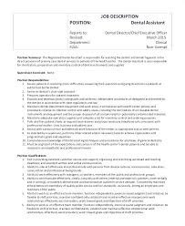 Job Duties Of A Dentist Job Description For A Dentist Registered ...