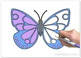 Are the kids excited to be going back to school? Butterfly Coloring Pages Free Printable Butterflies One Little Project