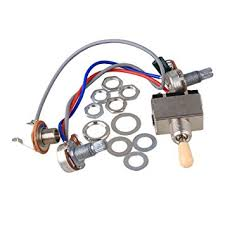 bqlzr guitar wiring harness way toggle switch vt k for bqlzr guitar wiring harness 3way toggle switch 1v1t 500k for electric guitar 2 humbucker
