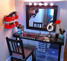 best diy makeup vanity with lights