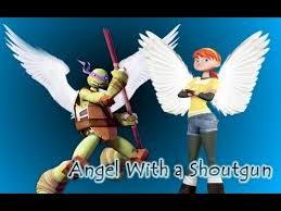 TMNT 2012~Donnie/April~Angel with a shoutgon (Thanks so much for 500 subs  ^^) - YouTube