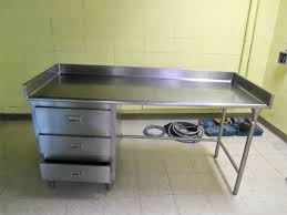 interesting stainless steel prep table with drawer for kitchen furniture ideas