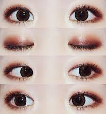 cute korean eye makeup