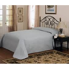 french tile full bedspread dusty blue