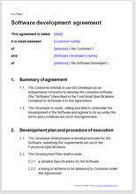 software developer contract template. Software Development Agreement Template
