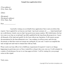 sample letter to loan officer sample loan application letter png