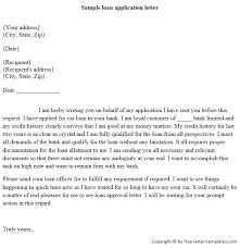 sample letter to loan officer sample loan application letter png