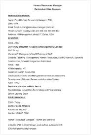 Management Resume Samples Human Resource Management Resume Hr Executive Resume Sample Human 68