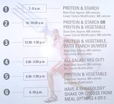 a sle meal plan schedule