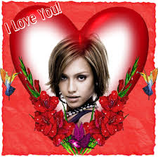 photo mone red heart i love you