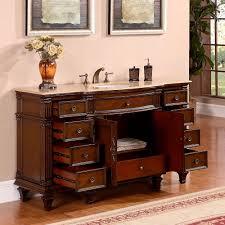 60 Inch Single Sink Vanity Cabinet Silkroad 60 Inch Vintage Single Sink Bathroom Vanity Roman Vein
