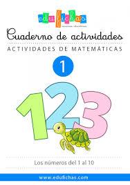cuadernillo de números gratis para