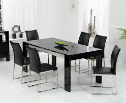 agreeable black dining table 6 chairs dining table ideas black high gloss dining table and