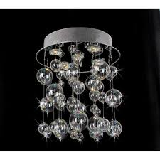 furniture bubble light chandelier large glass diy revit fixture ball modern hanging staircase crystal spiral