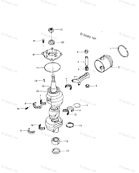 Mercury chrysler by hp 85hp oem parts diagram for crankshaft and piston boats