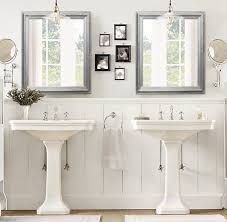 framed bathroom vanity mirrors. ANY COLOR Brushed Nickel Modern Bathroom Mirror Framed In Large Mirrors Plans 2 Vanity
