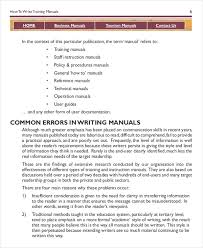 Instruction Manual Template 10 Free Word Pdf Documents