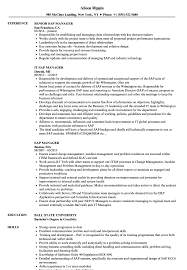 Sap Manager Resume Samples Velvet Jobs
