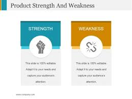 Sample Of Strength And Weaknesses Product Strength And Weakness Ppt Powerpoint Presentation