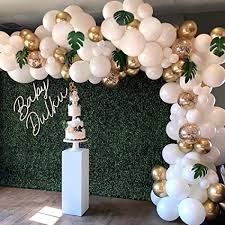 Balloon Garland Arch Kit, <b>White</b> Gold Confetti Balloons 101 <b>PCS</b>