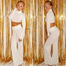 2 Amber Rose's Emerson Night Club Laina Rauma Priscilla Black Sheer Ribbed  Crop Top and Pant Set – Fashion Bomb Daily Style Magazine: Celebrity  Fashion, Fashion News, What To Wear, Runway Show Reviews