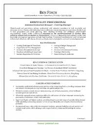 Resume Examples Resume Examples Cover Letter Hospitality R Rs Geer