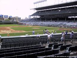 Cubs Wrigley Field Seating Chart Chicago Cubs At Wrigley Field Field Box Infield 112 View