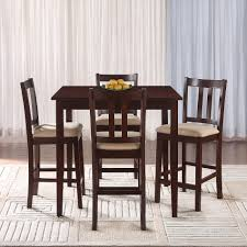 Craftsman Stool And Table Set Essential Home Hayden 5 Piece Upholstered Dining Set With Rich