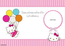 Hello Kitty Invitation Printable Free Printable Hello Kitty Invitation Template Balloons Epic Hello
