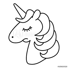 Explore 623989 free printable coloring pages for you can use our amazing online tool to color and edit the following unicorn head coloring pages. Unicorn Head Sad Cartoon Line Art Coloring Page Buy This Stock Vector And Explore Similar Vectors At Adobe Stock Adobe Stock